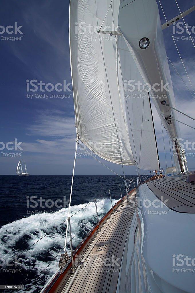 sailing sailboat yacht royalty-free stock photo