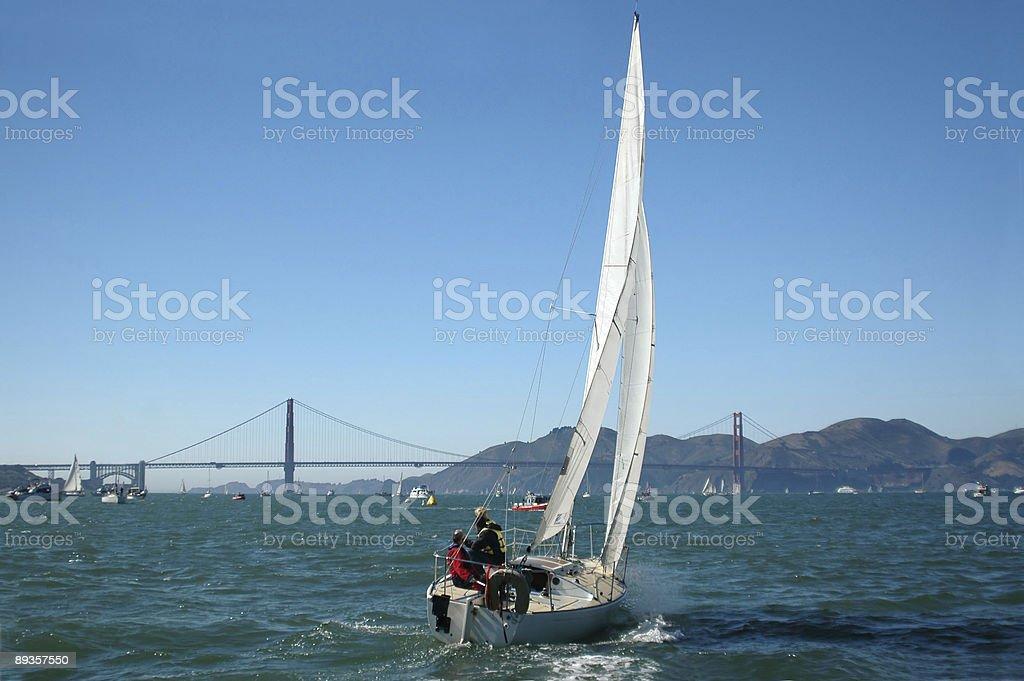 Sailing San Francisco Bay royalty-free stock photo