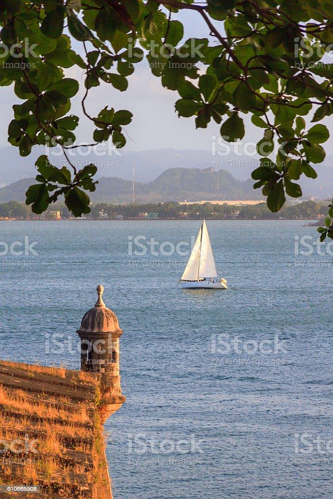 Sailing San Juan stock photo