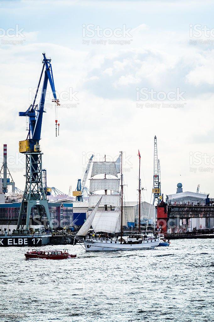 Sailing Ship at the Harbor stock photo