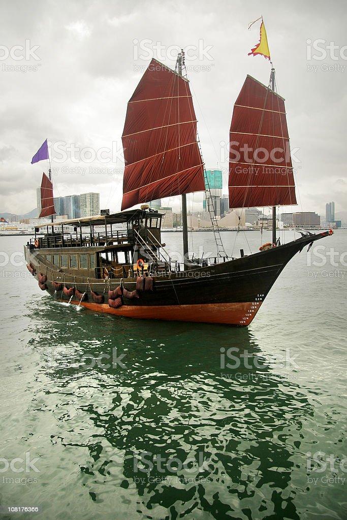Sailing Ship in Hongkong stock photo