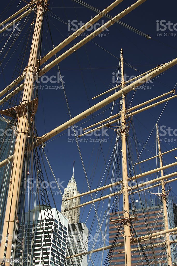 Sailing Ship in New York City royalty-free stock photo