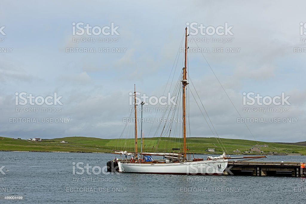 Sailing ship in the harbor royalty-free stock photo