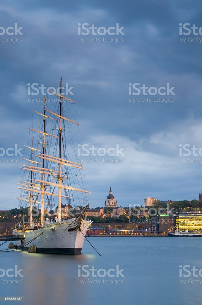 Sailing Ship, Stockholm stock photo