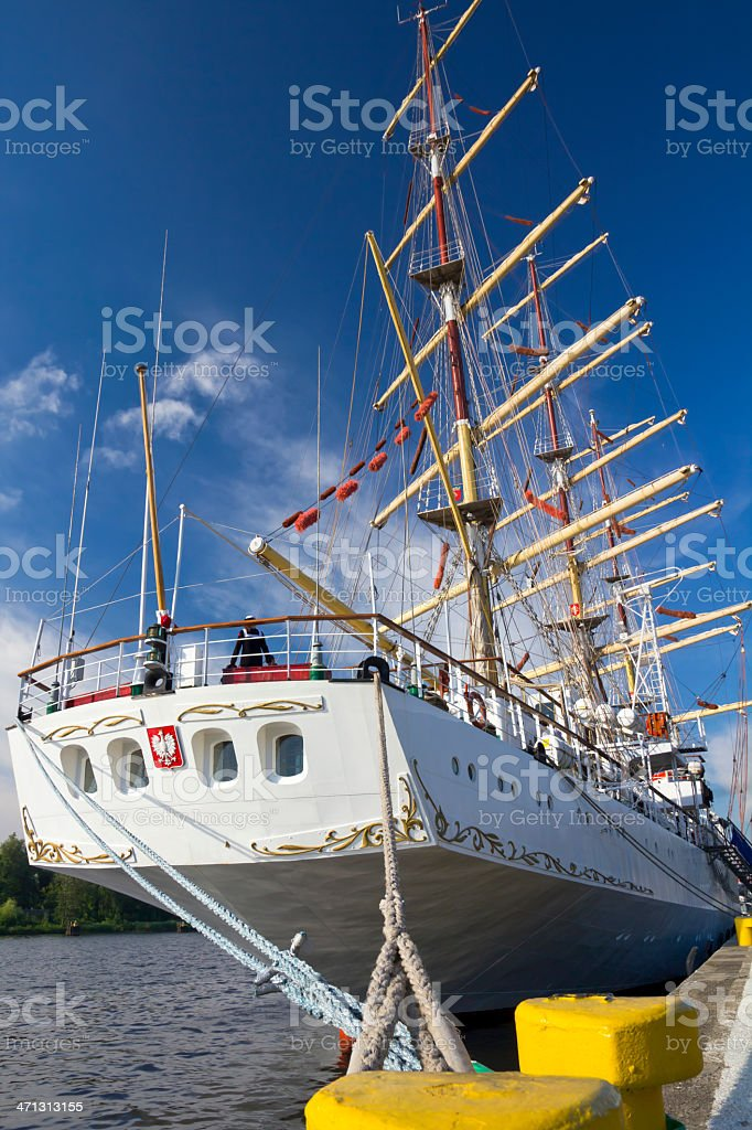 Sailing ship 'The gift of youth' royalty-free stock photo