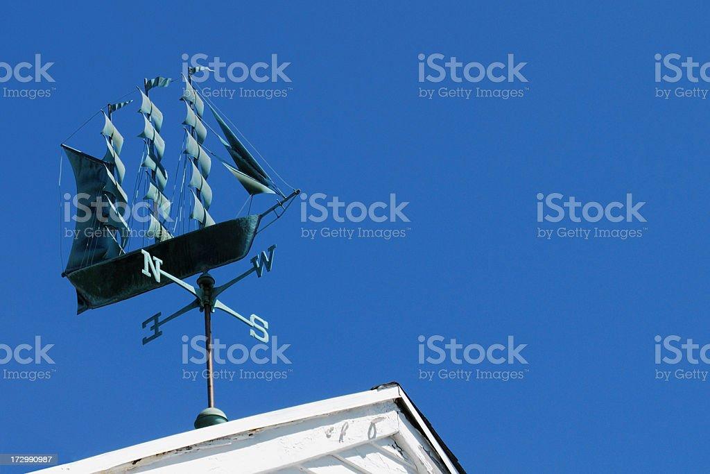 Sailing Ship Weather Vane stock photo