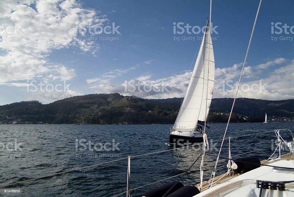 sailing ships stock photo
