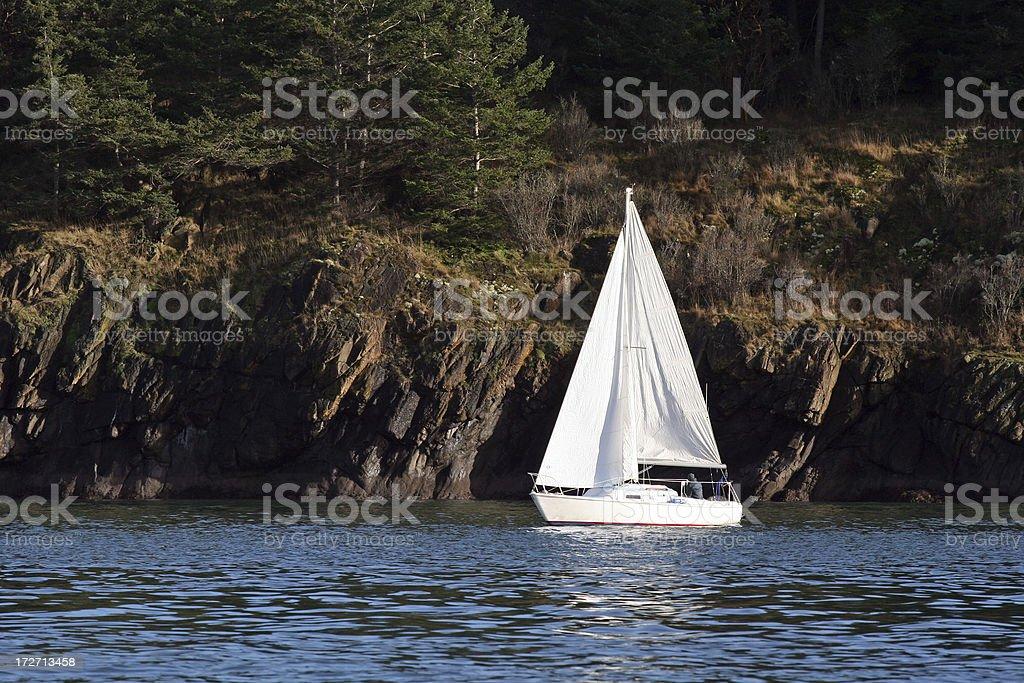 Sailing Solo stock photo