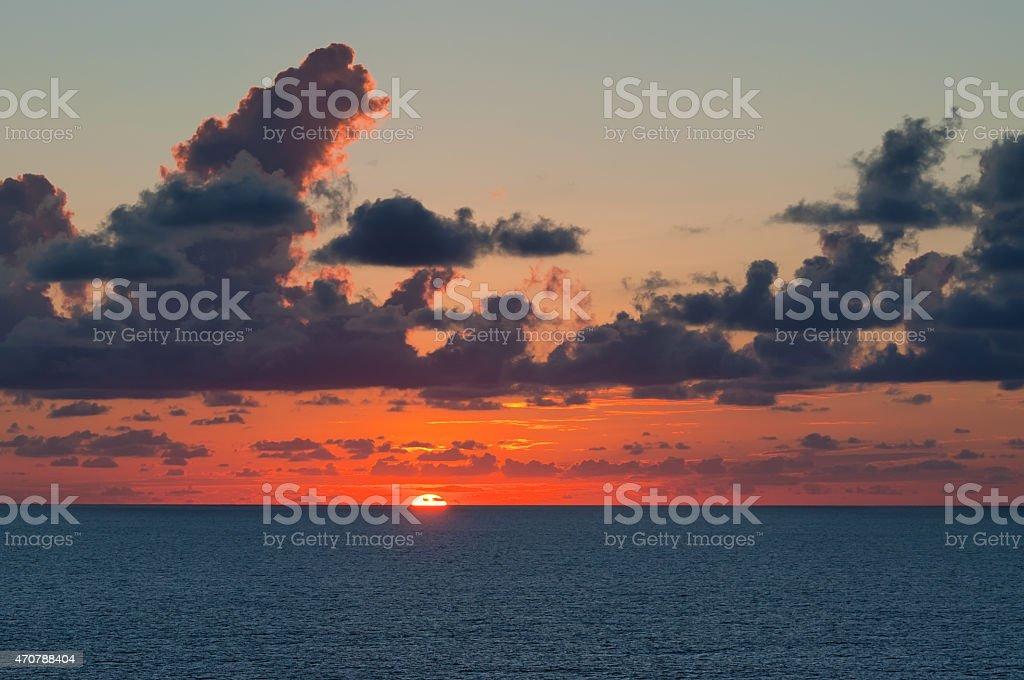 Sailing Sunset stock photo