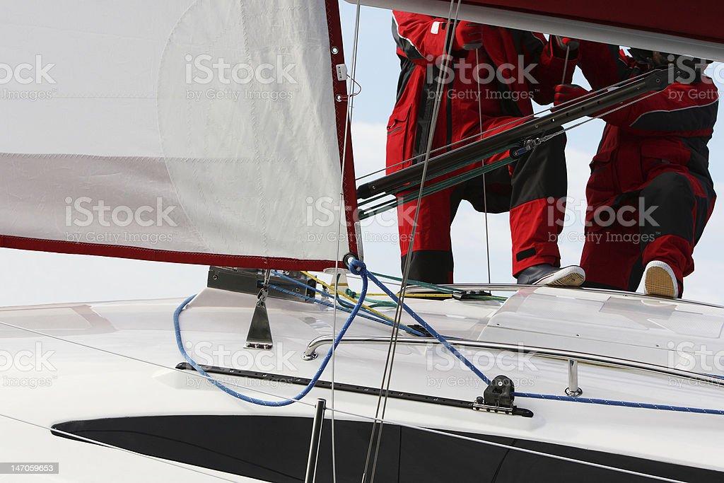 Sailing Team royalty-free stock photo