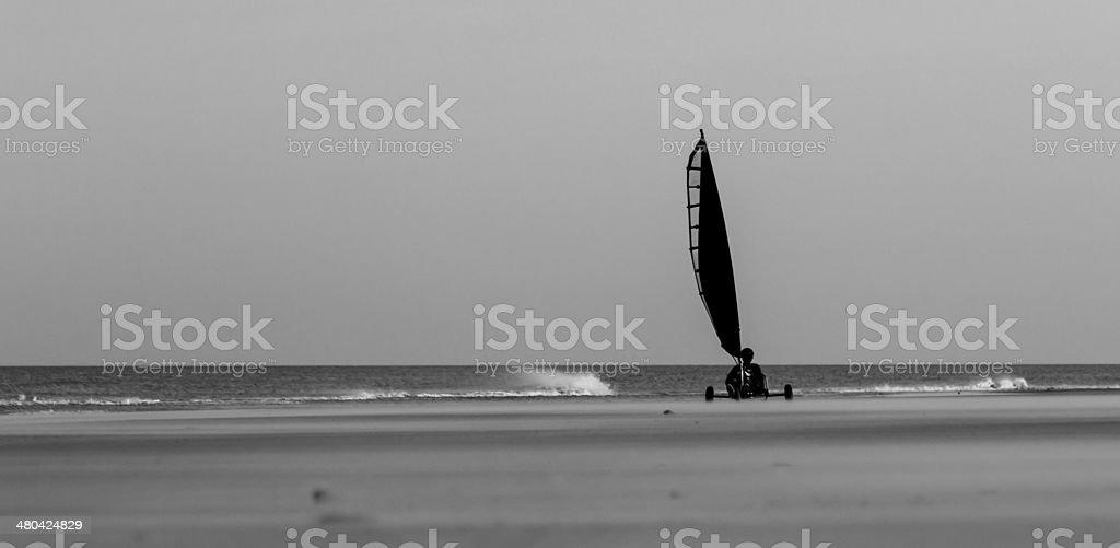 Sailing the beach stock photo
