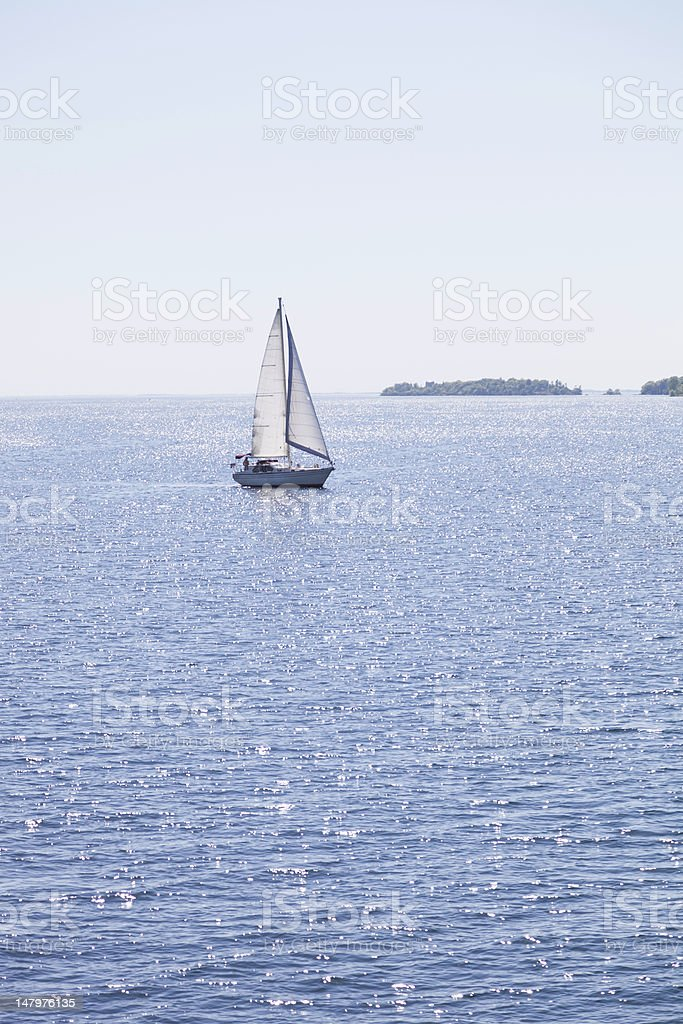 Sailing the Blue royalty-free stock photo