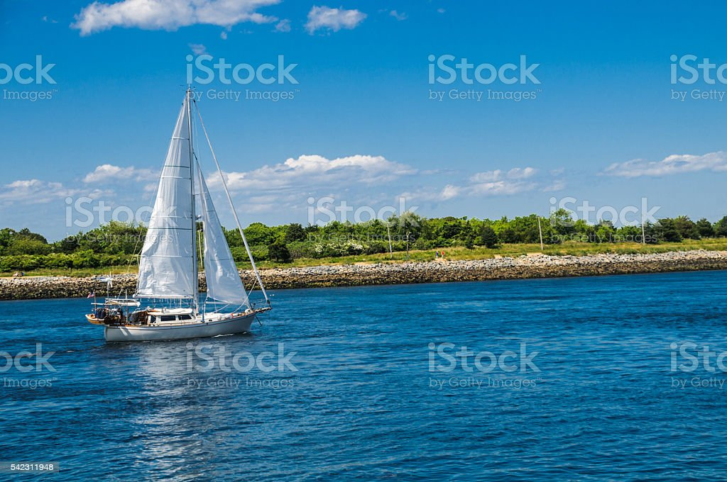Sailing the Canal stock photo