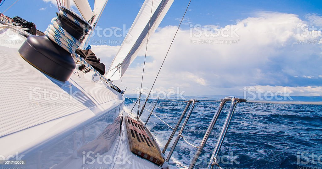 Sailing The Ocean stock photo