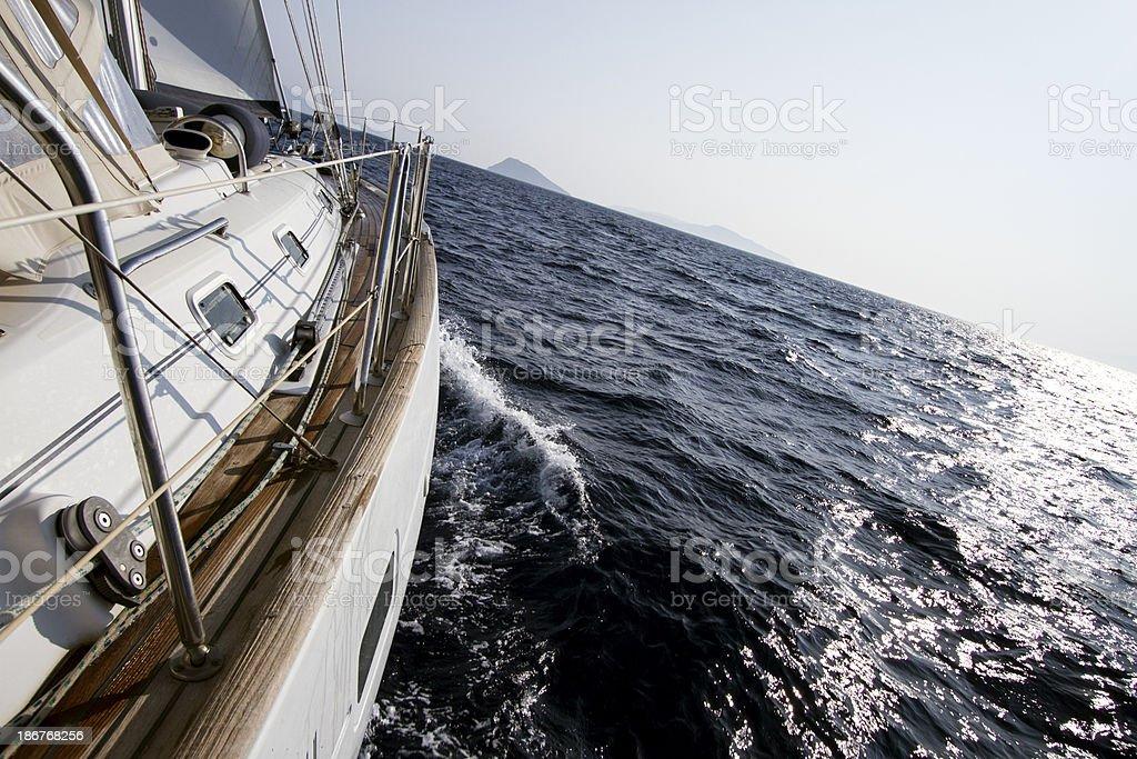 Sailing through the waves royalty-free stock photo