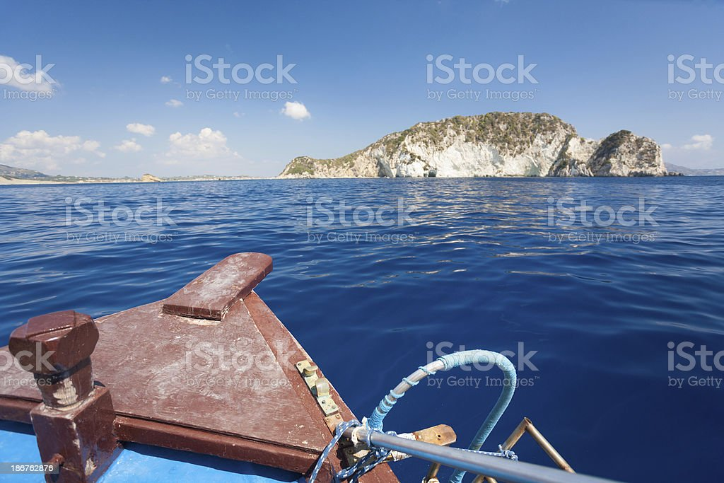 Sailing to the island royalty-free stock photo