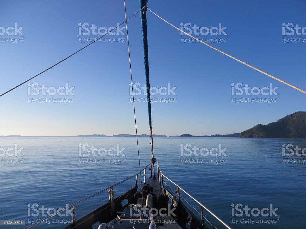 Sailing trip stock photo
