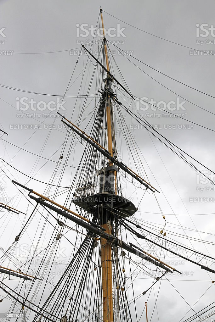 Sailing Under Stormy Skies stock photo