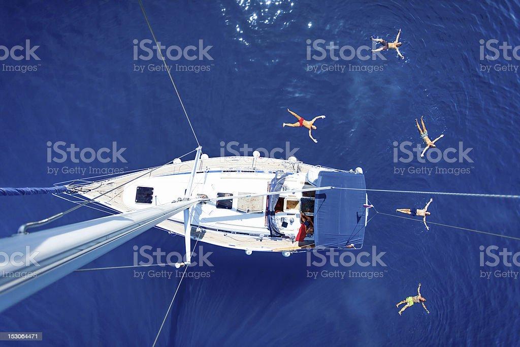 Sailing vacation stock photo