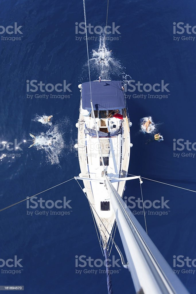 Sailing vacation royalty-free stock photo