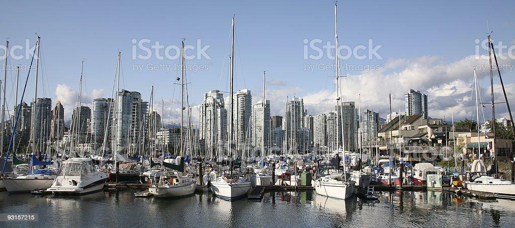 Sailing Vancouver, British Columbia, Canada royalty-free stock photo