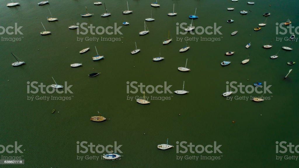 Sailing vessels stock photo