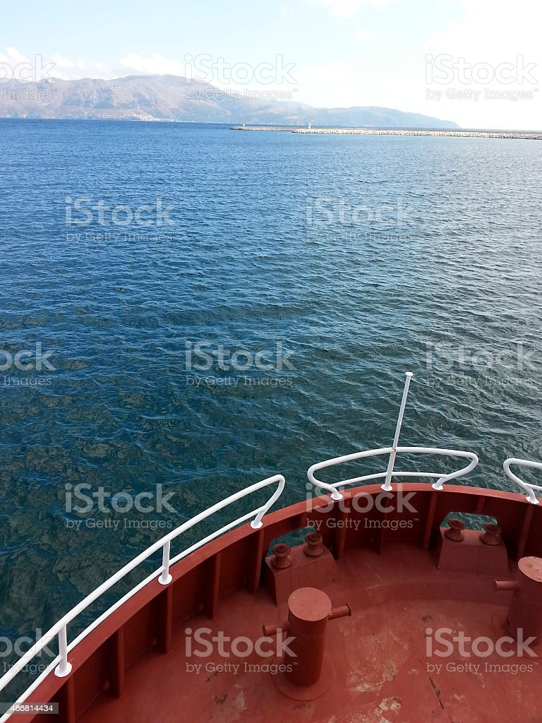 Sailing with Ferry stock photo