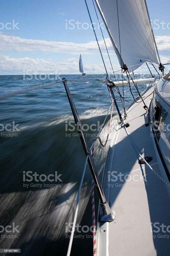 Sailing with speed royalty-free stock photo