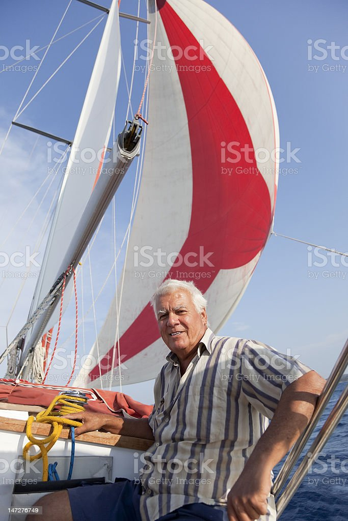 Sailing with the wind.. royalty-free stock photo