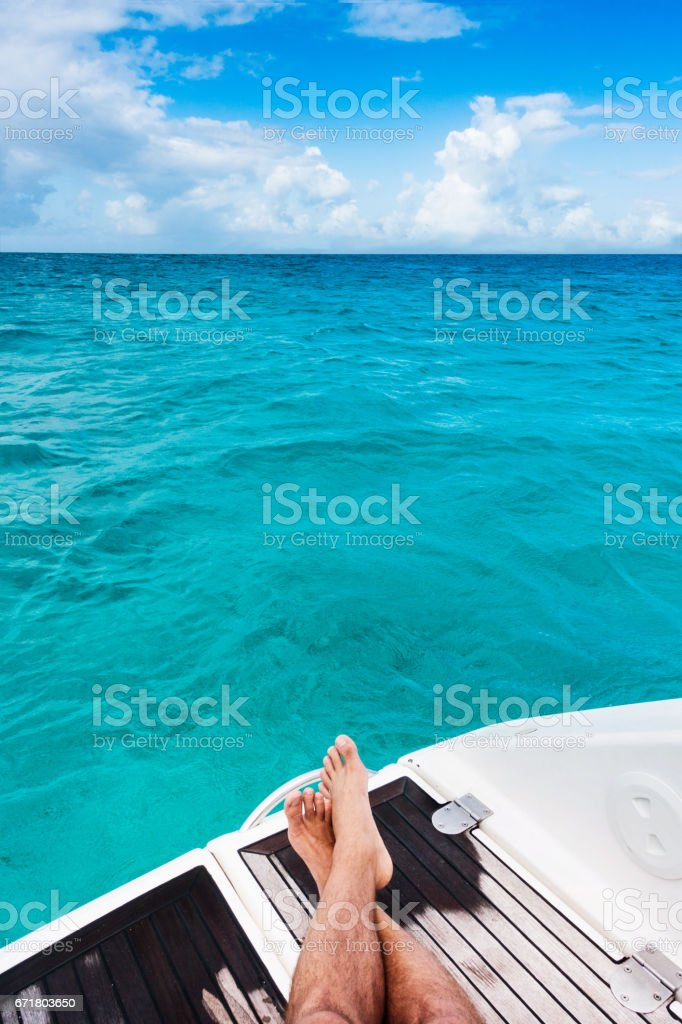 Sailing yacht, cruise on a catamaran stock photo
