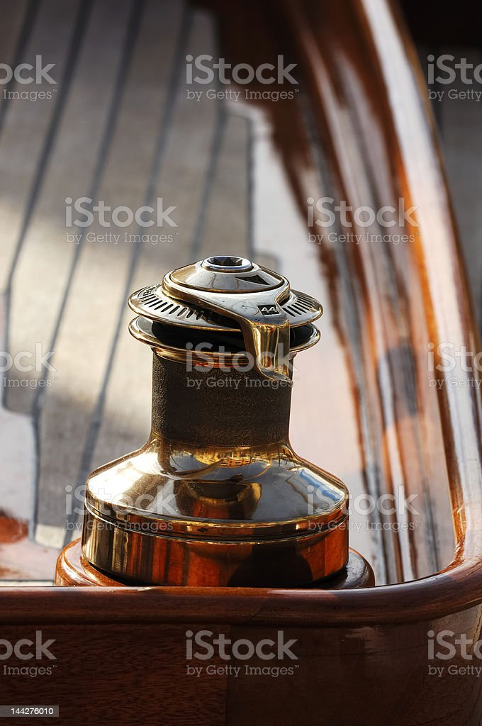 Sailing yacht detail royalty-free stock photo