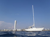 Sailing yacht in Malmo Sweden