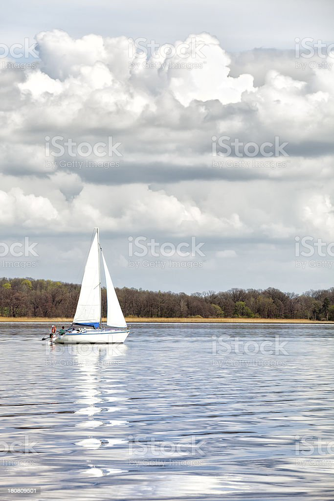 Sailing Yacht royalty-free stock photo