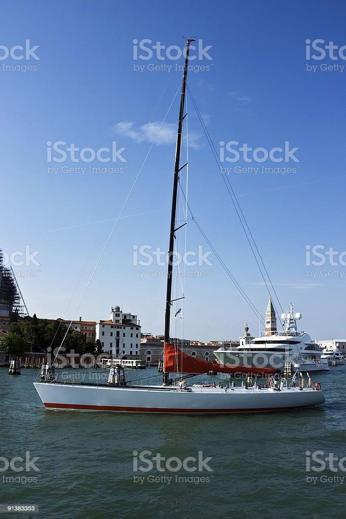 Sailing yacht royalty-free stock photo