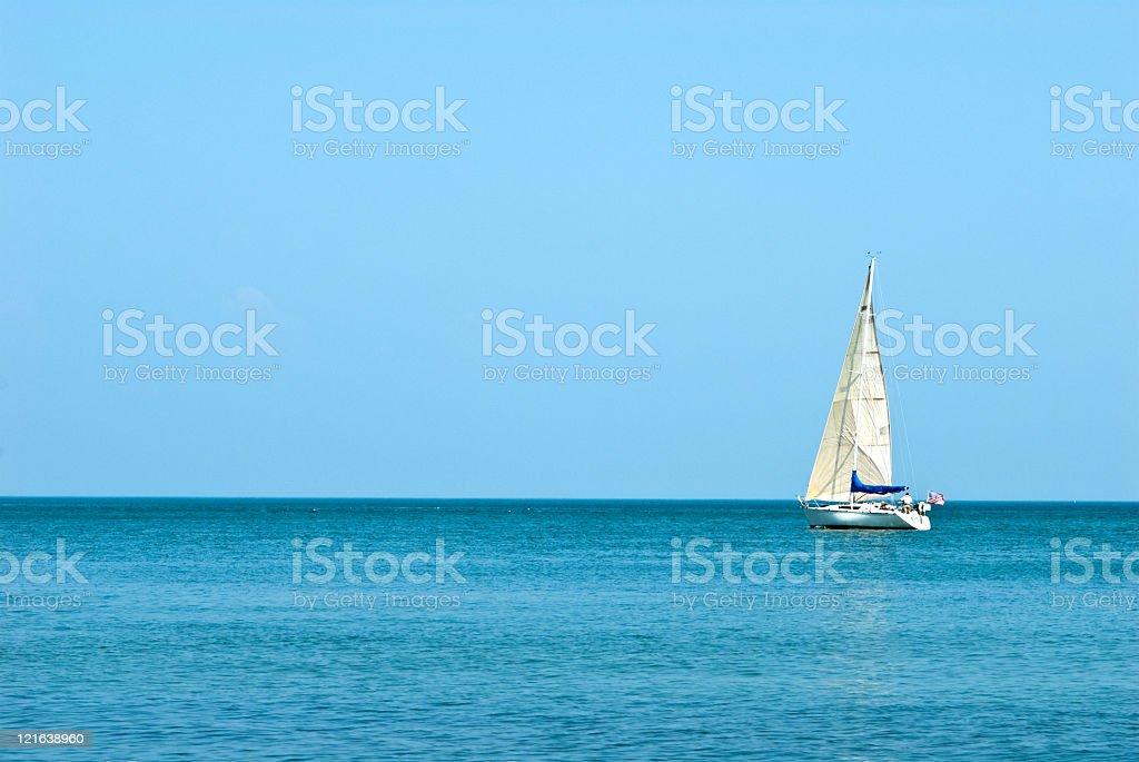 Sailingboat in Ontario lake stock photo