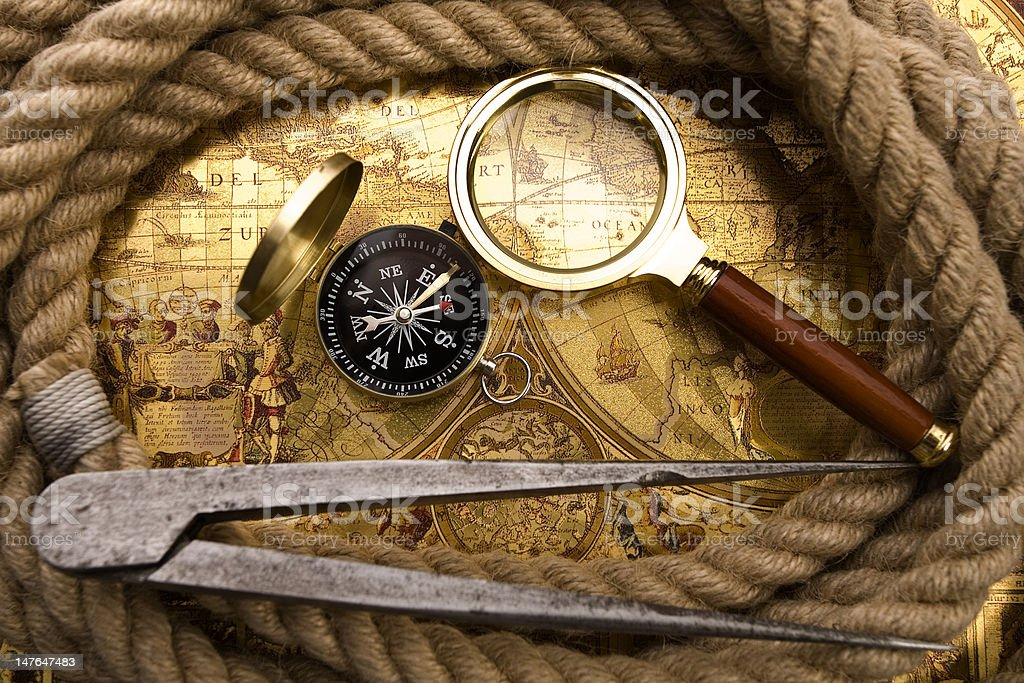 sailing's accessories royalty-free stock photo