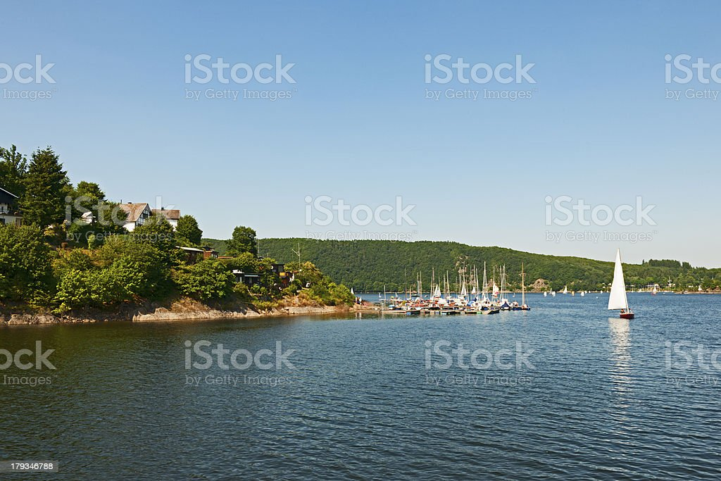 Sailingships on Rursee royalty-free stock photo