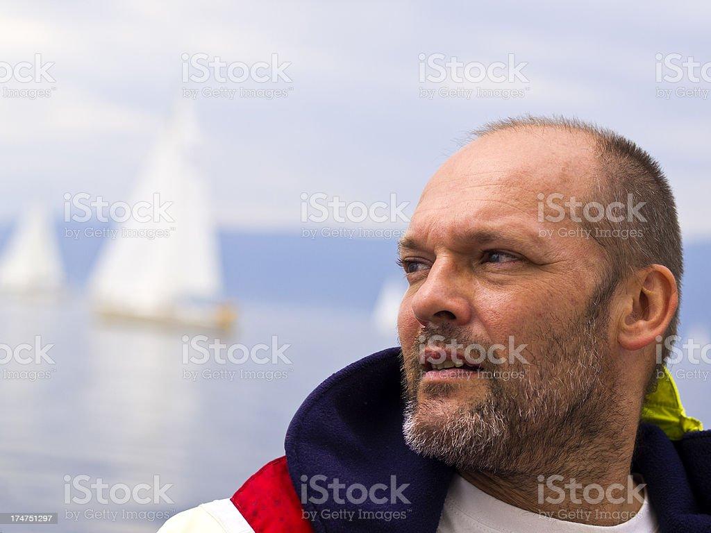 Sailling man royalty-free stock photo