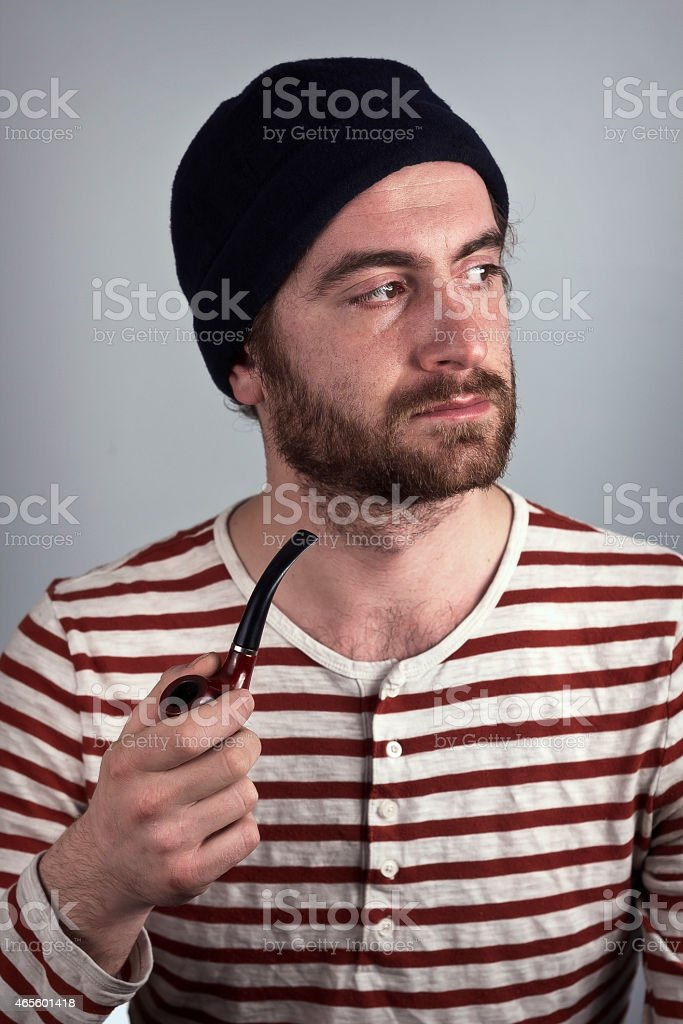Sailor and Pipe stock photo