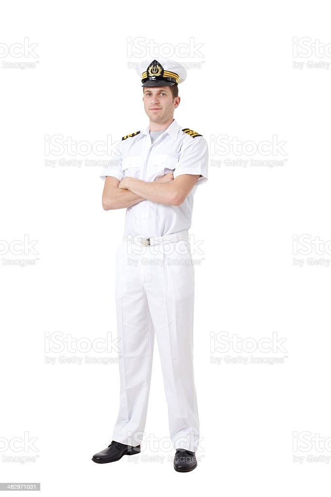 Sailor captain stock photo