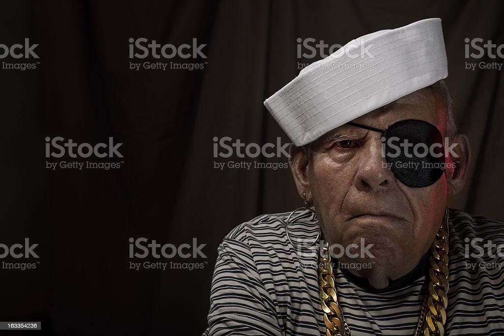 Sailor grandfather stock photo