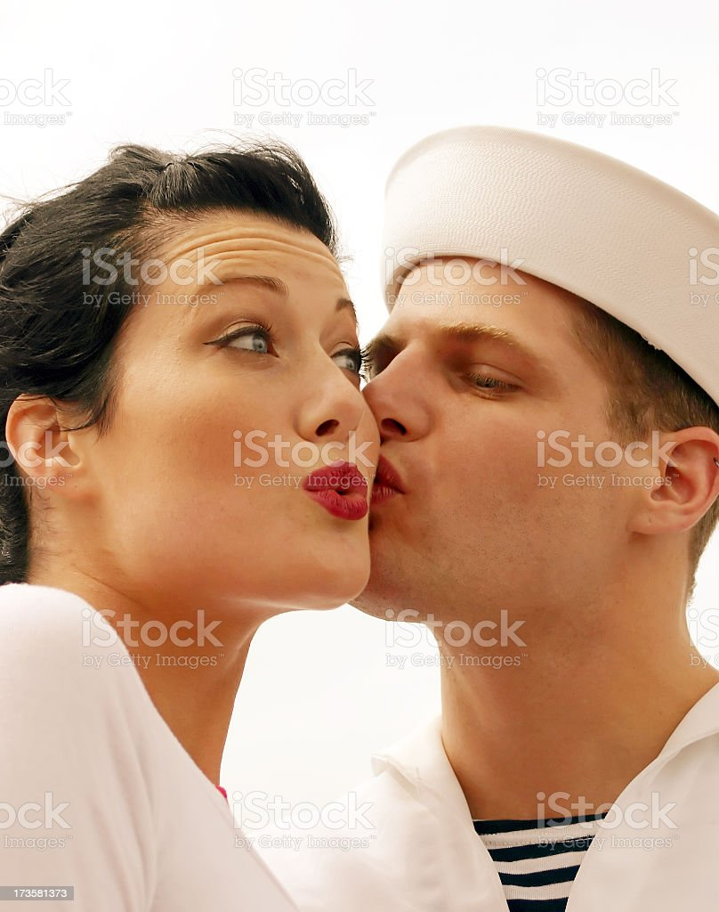 Sailor Kiss - Coy stock photo