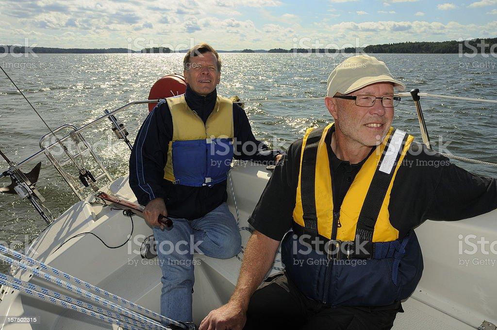 Sailor looking forward royalty-free stock photo