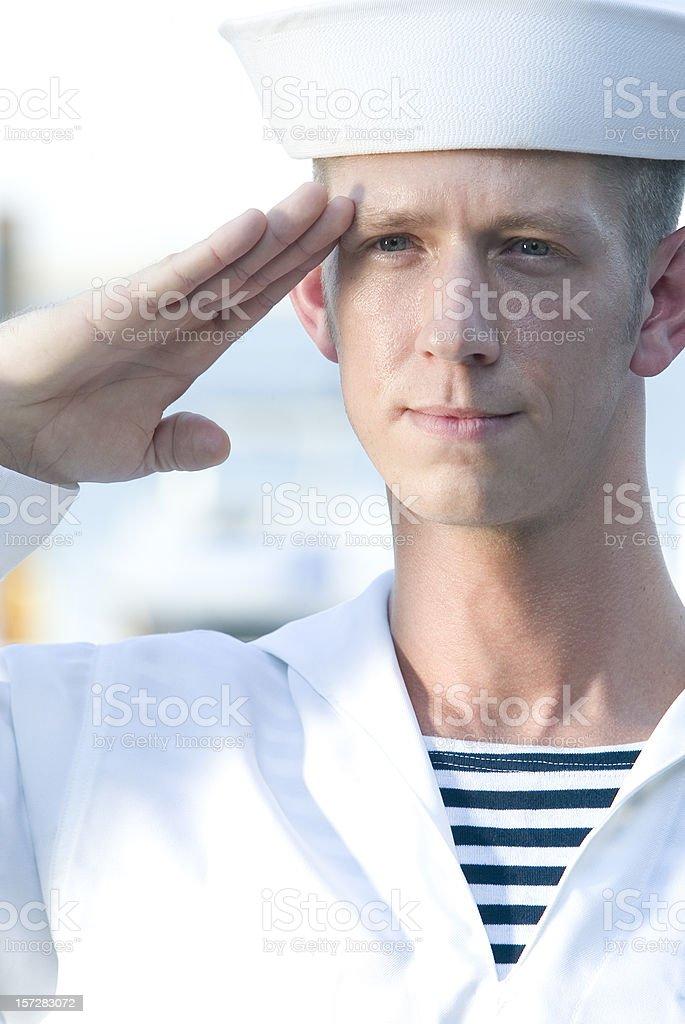 Sailor man stock photo