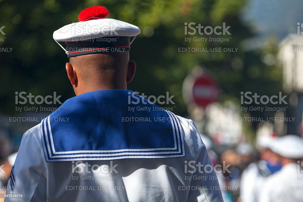 Sailor of the French Navy stock photo