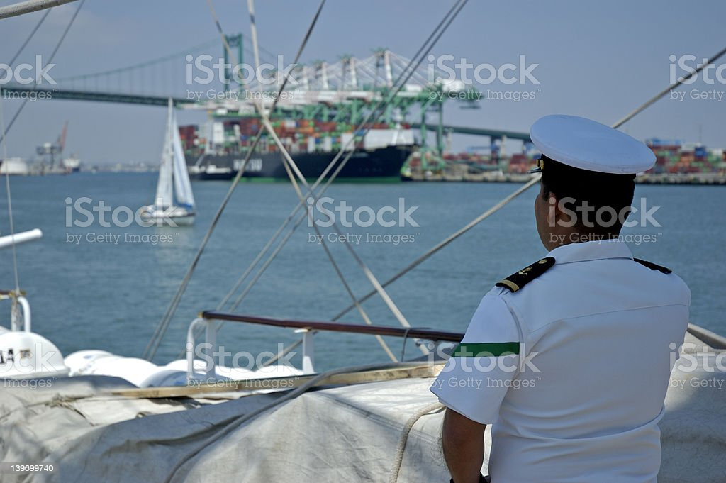 Sailor on watch royalty-free stock photo