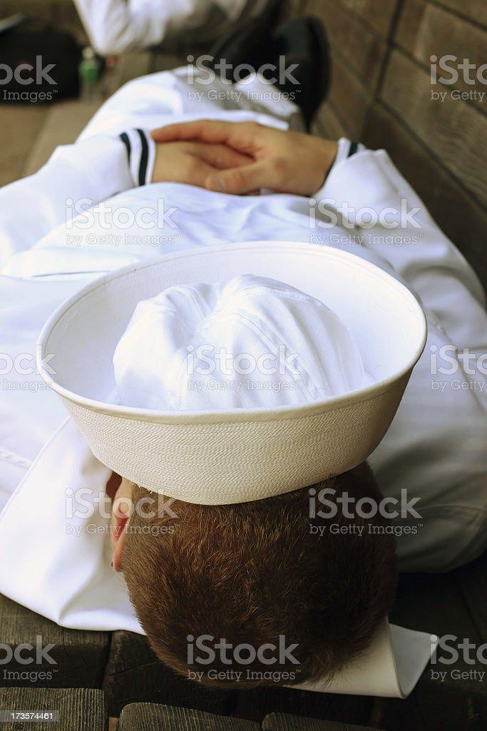 Sailor Resting stock photo