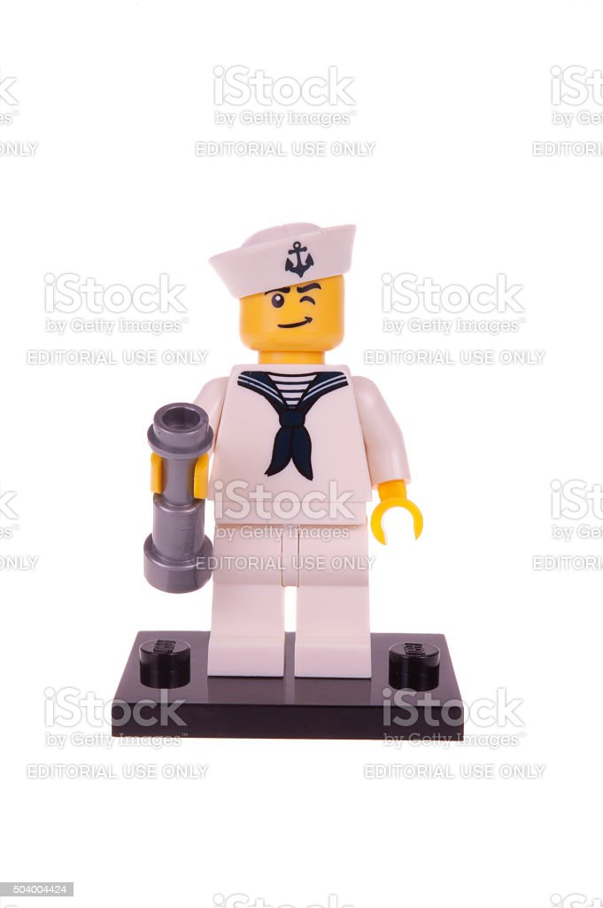 Sailor Series 4 Lego Minifigure stock photo
