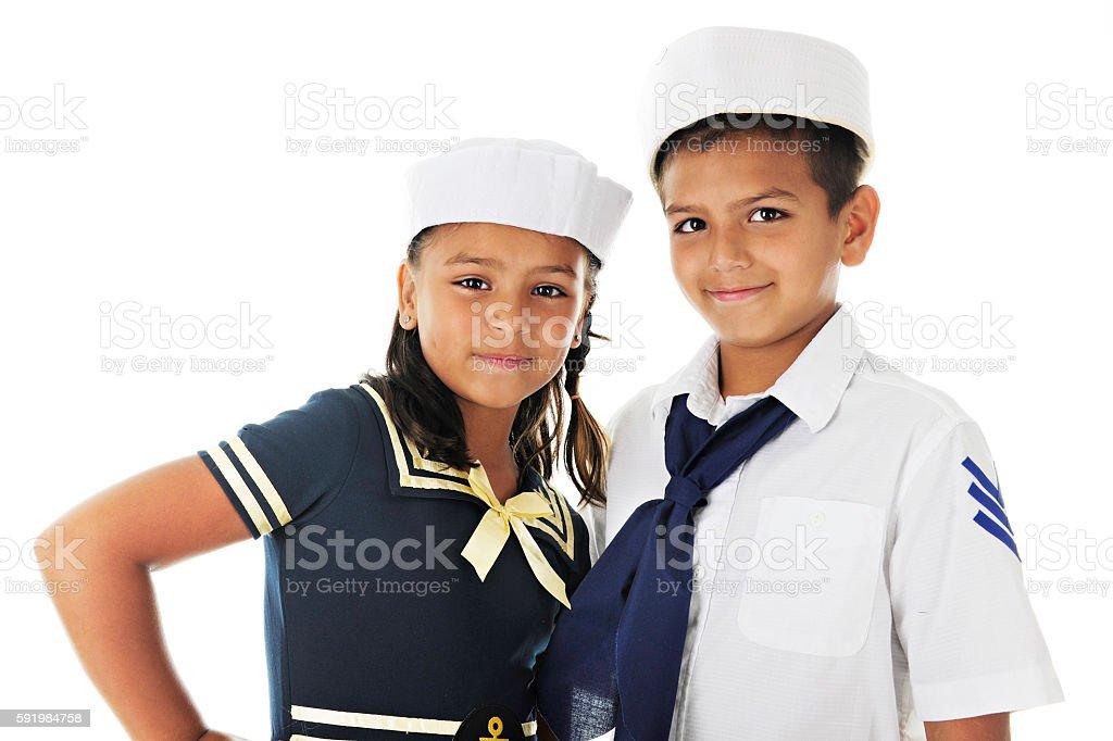 Sailor Sibs stock photo