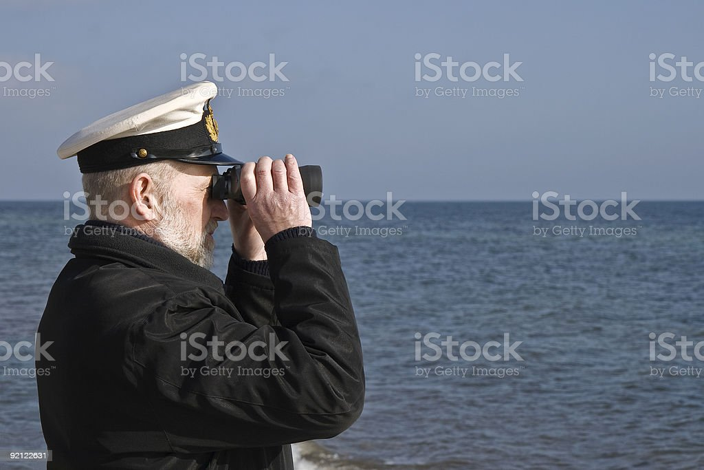 Sailor with Binoculars stock photo